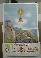 MANIFESTO ANTICA CATANZARO CALABRIA ITALIA CONGRESSO EUCARISTICO CALABRESE 1933