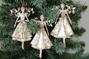 Gisela Graham One Christmas Gold Fairy Resin Christmas Tree Decoration