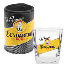 Bundy Bundaberg Rum Spirit Glass 285ml & Neoprene Can Cooler Stubby Holder