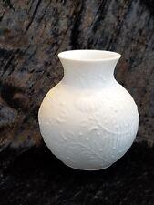 Vintage Kaiser W Germany white porcelain bisque vase Ginger Jar Shape EUC