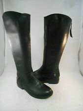 Bongo Black Synthetic Tall Boots Back Zipper Women's Size 6 M