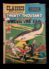 Classics Illustrated #47 (HRN 47) 1st Edition 20,000 Leagues Under Sea VG + 4.5
