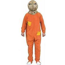 Trick R Treat Licensed Sam Costume Orange Fleece Footie Jammies Adult One Size