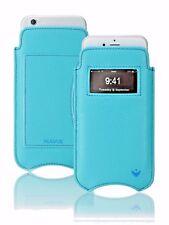 iPhone 8 Plus/7 Plus étui porte-feuille NUEVUE Simili-cuir Bleu Auto Nettoyage