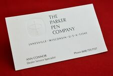 Personal Card From Parker Company Dealer Service Specialist (R.#7391)