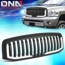 FOR 2006-2009 DODGE RAM TRUCK MATTE VERTICAL STYLE BUMPER GRILLE W/U-LED DRL