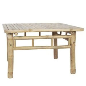 Large Square Bamboo Coffee Table by Ib Laursen