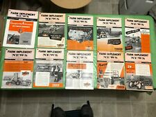 LOT OF 10 1940's & 1950's THE FARM IMPLEMENT NEWS MAGAZINE ALLIS CHALMERS ADS