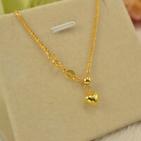 Au750 Pure 18K Yellow Gold Necklace Women Wheat Link Chain 22inch Adjustable