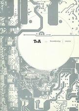 T+A 2002 2003 / Katalog Prospekt / Criterion Racks Verstärker Lautsprecher uvm.