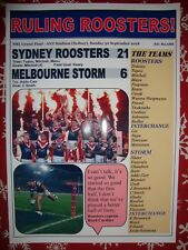 Sydney Roosters 21 Melbourne Storm 6 - 2018 NRL Grand Final - souvenir print