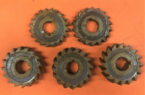 "5 x 3"" Diameter - 3/8-7/8 - New - Milling Cutters (Slotting) HSS 1"" Bore"