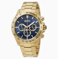 Hugo Boss HB 1513340 Ikon Chronograph Gold Tone Bracelet Blue Dial Men's Watch