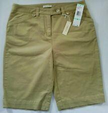 NWT $44 Jones New York Sport Stretch Shorts Size 8 Tan