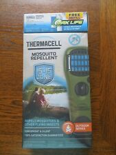 Thermacell Mosquito Repeller, Olive, 12-Hour Protection + Free Refill