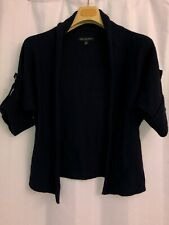 Banana Republic Luxury Cashmere Blend Women Navy Open Front  Sweater XS Preowned