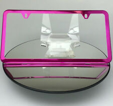 Slim Powder Coated Hot Pink 2 Holes Frame Holder Stainless Steel License Plate