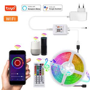 10M 5050 RGB WiFi LED Strip light Smart Tuya APP Music Control Power supply Kit