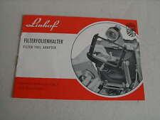 Bedienungsanleitung  Linhof Filterfolienhalter