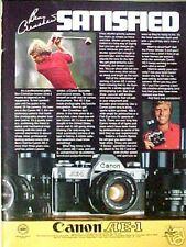 1980 Canon Camera Ben Crenshaw Golf Pro Photo Print Ad