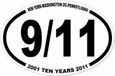 3x4.5  9/11 TEN YEAR STICKER