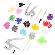 Pro Snap Pliers + 150 Set Plastic Snap Press Stud For Cloth Diapers/PUL/Baby Bib