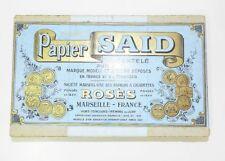 ***** RARE ANCIEN COFFRET DE PAPIER A CIGARETTES SAID - TOBACCIANA - 1930 *****