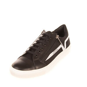 RRP€310 VERSACE COLLECTION Neoprene & Leather Sneakers EU43 UK9 US10 Round Toe