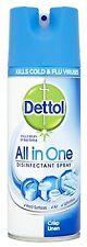 1X Dettol All In One Disinfectant Spray 400 ML Crisp Linen Kills 99.9% Bacteria