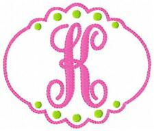 Just Girly Machine Embroidery Designs Monogram Font Designs CD Joyful Stitches