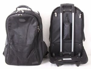 McKlein Ballistic Convertible Backpack Rolling CarryOn Detachable Luggage Travel