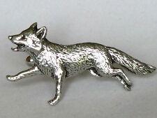 Fox running chasse Vixen étain anglais boutons de manchette cadeau homme bijoux coffret