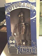 "Futurama  ""Bright'nShiny Bender Robot""    9""inch action figure  2008 collector"
