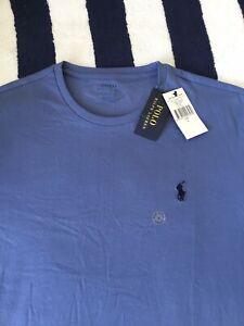 BNWT Mens Ralph Lauren Light Blue T Shirt In Large