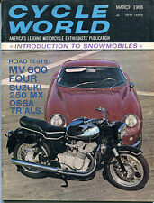 Cycle World March 1968 MV 600 Four Suzuki 250 MX EX NO ML 121215jhe