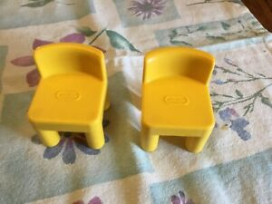 Little Tikes Dollhouse Two Little Yellow Chair Vintage 90s