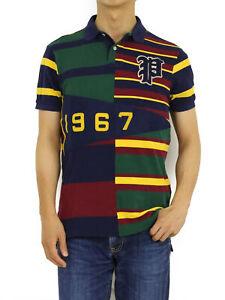 "Polo Ralph Lauren Custom Paneled ""P 1967"" Short Sleeve Polo Shirt - Multicolor"