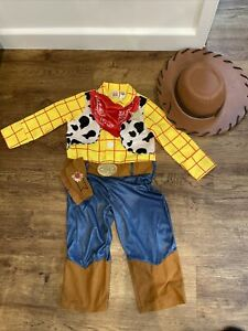 Disney Toy Story Woody Costume Fancy Dress Up Outfit, Hat 3-4 years