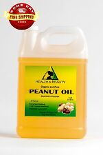 PEANUT OIL UNREFINED ORGANIC CARRIER COLD PRESSED VIRGIN RAW PURE 7 LB