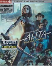 NEW ALITA BATTLE ANGEL BLU RAY DVD DIGITAL TARGET BOX & USB WRISTBAND BRACELET