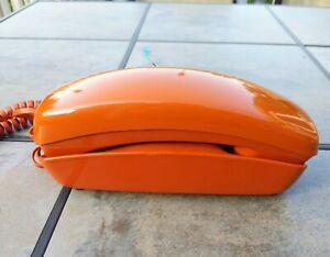 Vintage Western Electric Push Button Trimline Phone Burnt Orange Untested