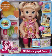 BABY ALIVE lalka SARA ŁAKOMCZUSZEK Super Snacks Snacking wer. POLSKA-POLISH