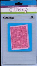 CUTTLEBUG 5x7 embossing folder DOMINOS