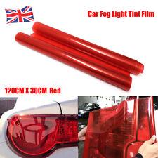 30CM*120CM Red Car Headlight Tint Film Auto lights Waterproof Vinyl Wrap Sheet