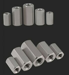 M5 M6 M8 M10 M12 M24 304 stainless steel Extension Hex nut hexagon joint nuts