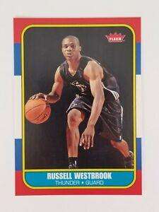 2008-09 Fleer RUSSELL WESTBROOK ROOKIE CARD RC 1986 Retro #86R-166 NBA HOF MVP d