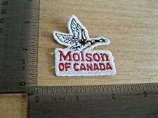 MOLSON OF CANADA BEER FLYING GOOSE EMBROIDERED 80S VINTAGE PATCH SEW IRON ON DD