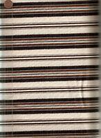 Midnight Cowboy black cream ticking stripe Maywood fabric