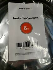 New listing New Sealed Monoprice Certified Premium High Speed Hdmi Cable 6 Foot Black