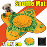 Pet Dog Snuffle Mat Nose Training Sniffing Pad Foraging Feeding Blanket 71x71cm